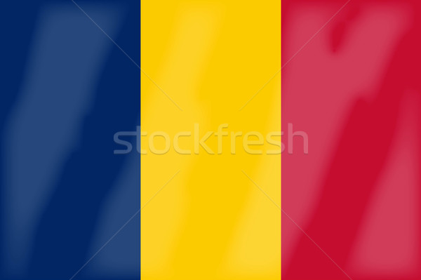 Chad Flag Stock photo © Bigalbaloo