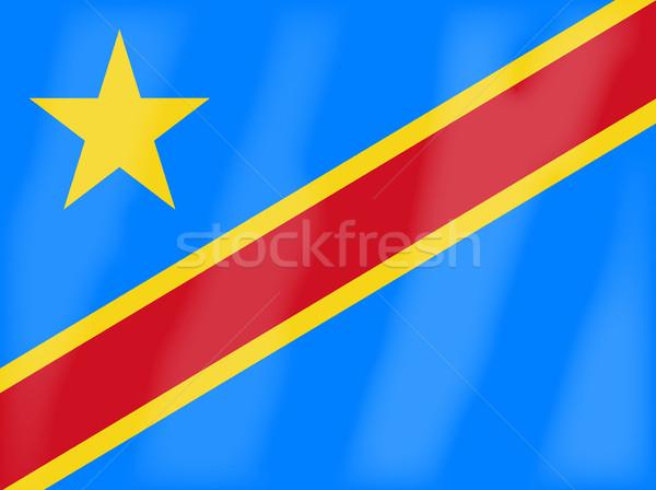 Demokratyczny republika Congo banderą Afryki kraju Zdjęcia stock © Bigalbaloo
