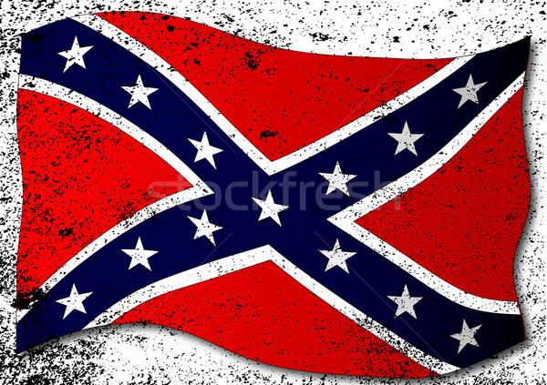 Waving Confederate Flag Stock photo © Bigalbaloo