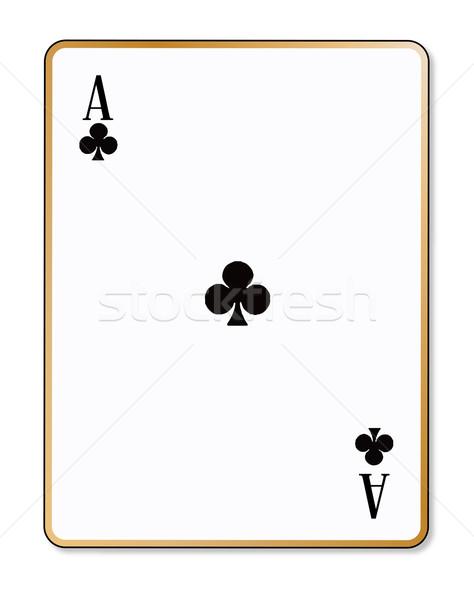 As jugando tarjeta rojo tarjetas juego Foto stock © Bigalbaloo