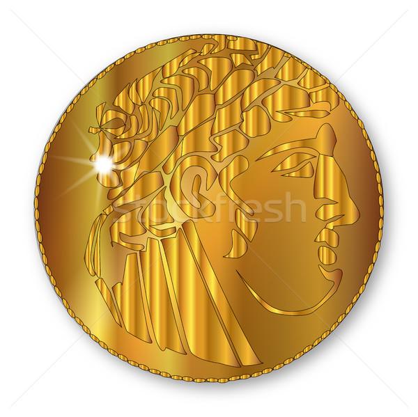 Golden Shekel Stock photo © Bigalbaloo