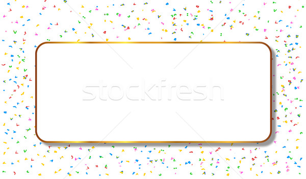 Copy Space Confetti Party Background Stock photo © Bigalbaloo