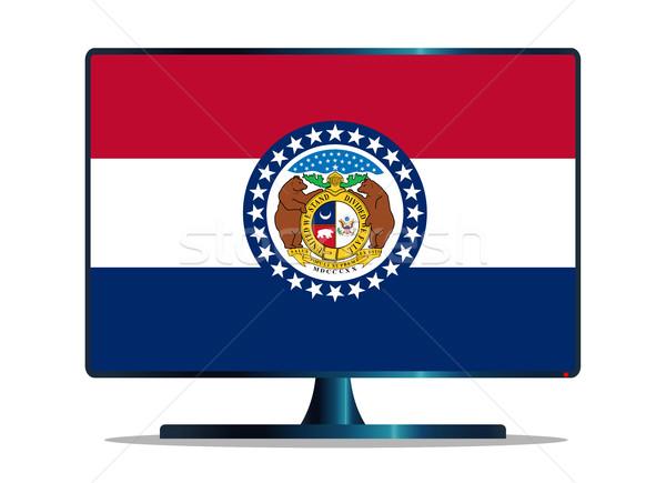 Bandera tv pantalla del ordenador ordenador supervisar Mac Foto stock © Bigalbaloo