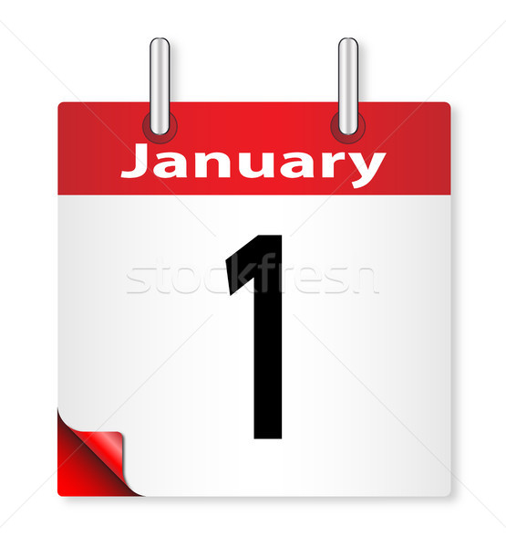 Date January 1st Stock photo © Bigalbaloo