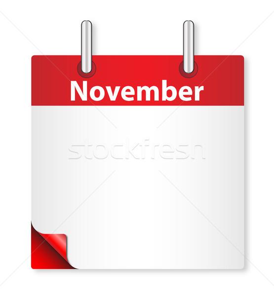 Blank Novenber Date Stock photo © Bigalbaloo