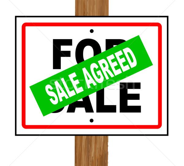 Sale Agreed Stock photo © Bigalbaloo