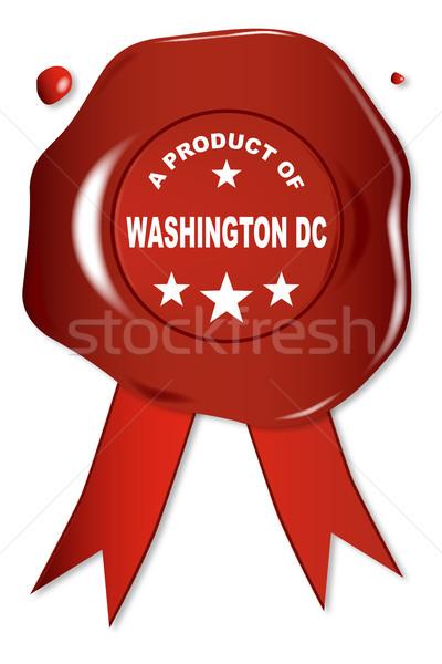 Produktu Washington DC wosk pieczęć tekst czerwony Zdjęcia stock © Bigalbaloo