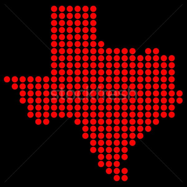 Texas in Dots Stock photo © Bigalbaloo