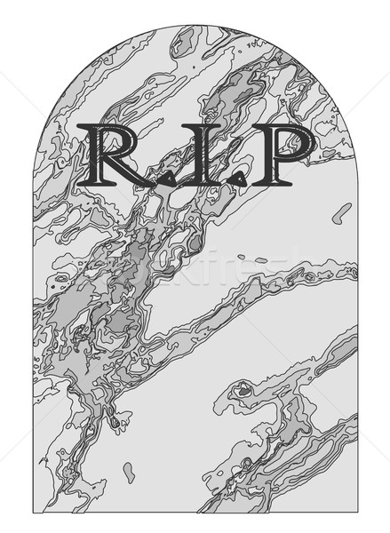 Rest In Peace Gravestone Stock photo © Bigalbaloo
