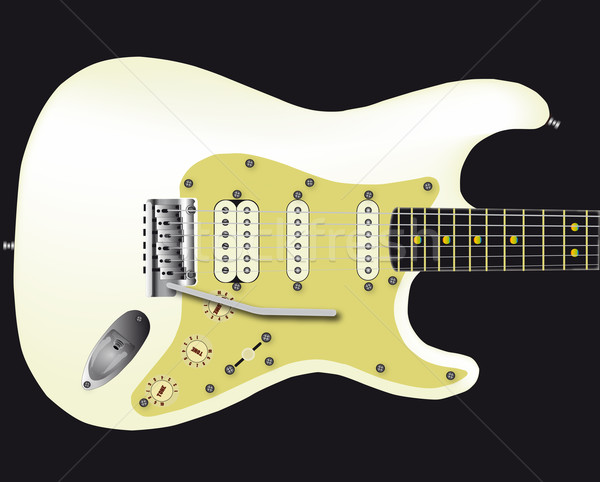 White Electric Guitar Stock photo © Bigalbaloo