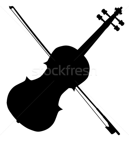 Fiddle Silhouette Stock photo © Bigalbaloo