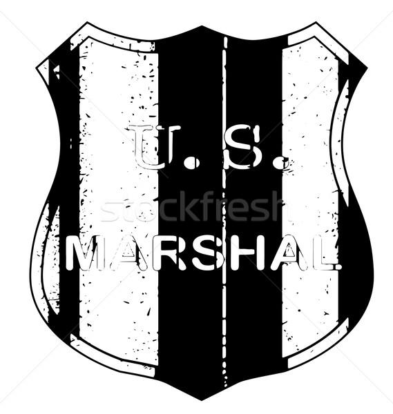 Marshal Shieldl Badge Stock photo © Bigalbaloo