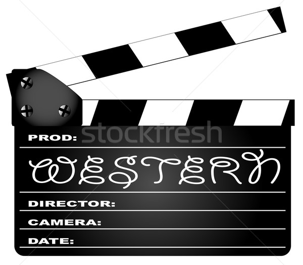 Western Movie Clapperboard Stock photo © Bigalbaloo