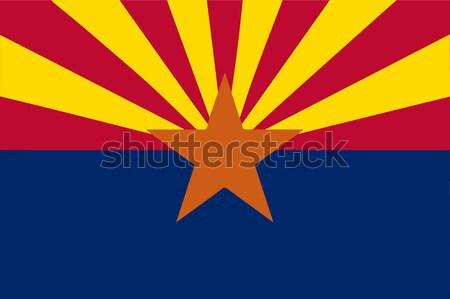 Аризона флаг синий звездой красный рисунок Сток-фото © Bigalbaloo