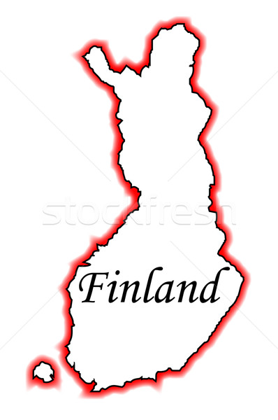 Finlandia mapa blanco gráfico Foto stock © Bigalbaloo