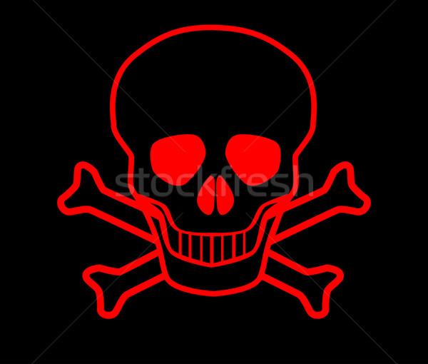 Red Skull and Crossbones Stock photo © Bigalbaloo