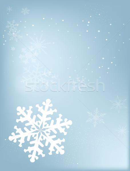 Falling Snowflake Stock photo © Bigalbaloo