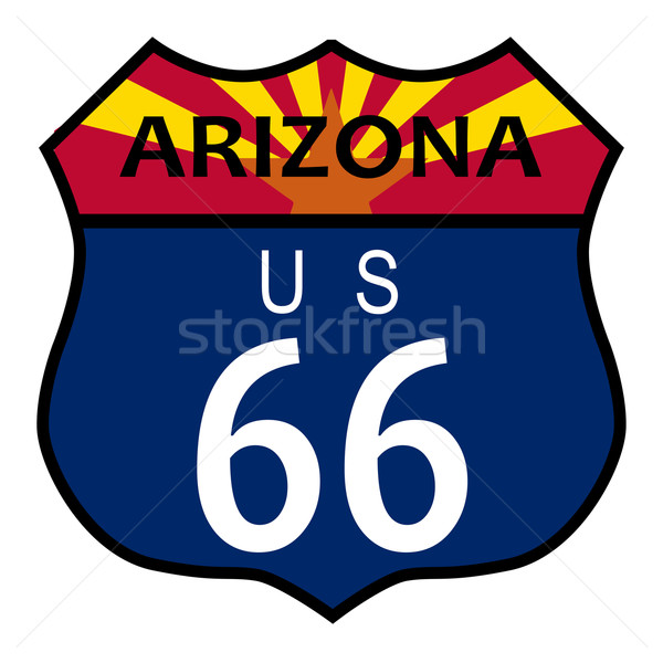 Stock photo: Route 66 Arizona
