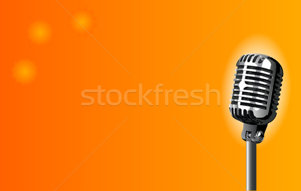 Microphone on Stage Stock photo © Bigalbaloo