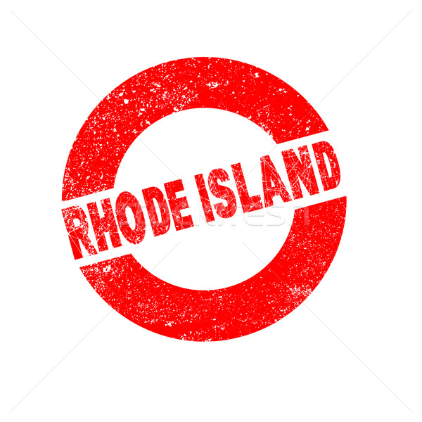 Rubber Ink Stamp Rhode Island Stock photo © Bigalbaloo