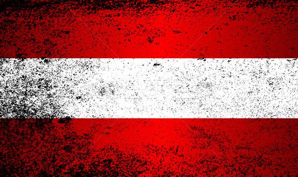 флаг Австрия красный белый Гранж Сток-фото © Bigalbaloo