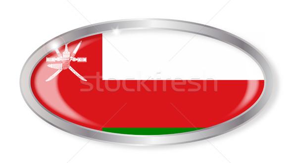 Оман флаг овальный кнопки серебро изолированный Сток-фото © Bigalbaloo