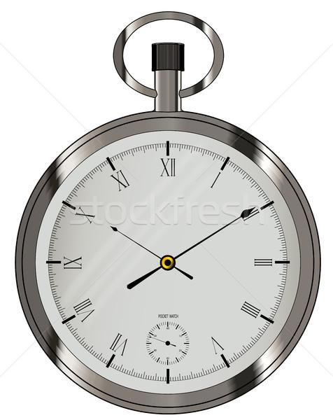 Silver Pocket Watch Stock photo © Bigalbaloo