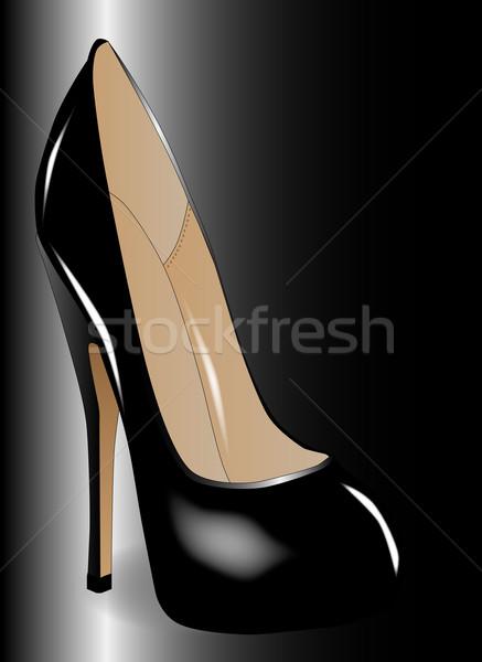 Black Shoe Stock photo © Bigalbaloo