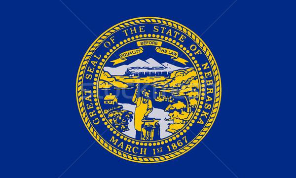 Nebraska bandiera americano disegno sigillo USA Foto d'archivio © Bigalbaloo