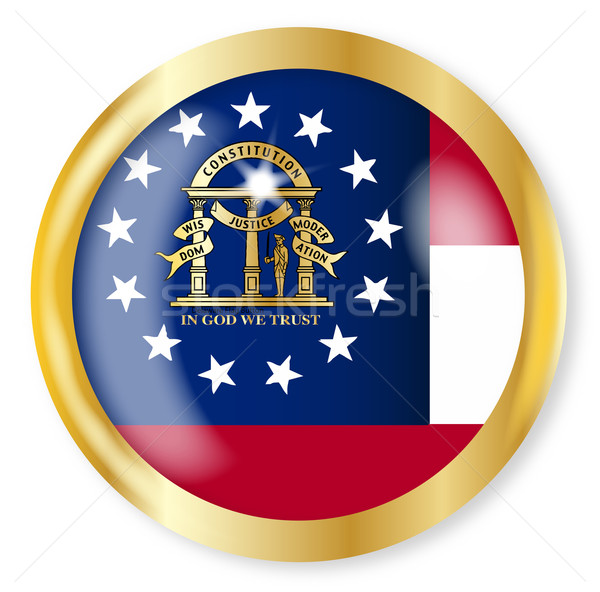 Грузия флаг кнопки золото металл Сток-фото © Bigalbaloo