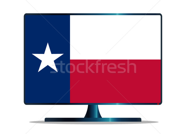 Texas vlag tv computerscherm computer monitor Stockfoto © Bigalbaloo