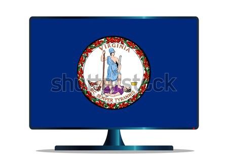 Arizona zászló tv képernyő számítógép monitor Stock fotó © Bigalbaloo