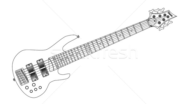 Stock photo: Six String Wide Neck Bass