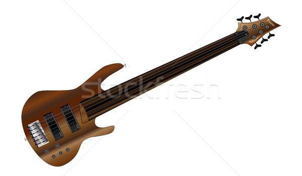 Six String Fretless Bass Stock photo © Bigalbaloo