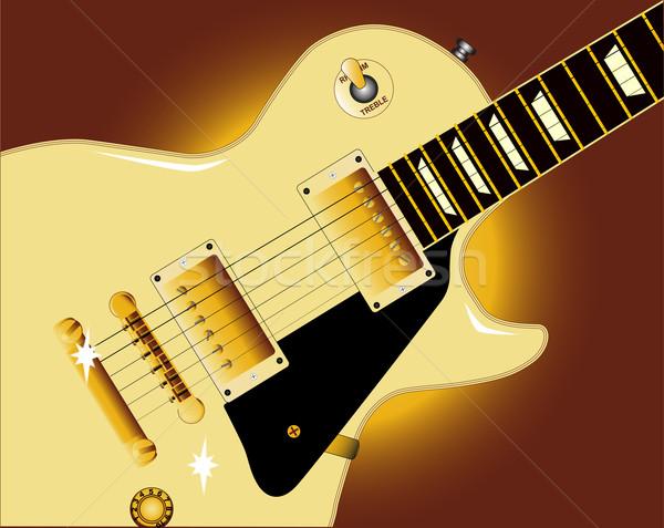 Guitar Close Up Stock photo © Bigalbaloo