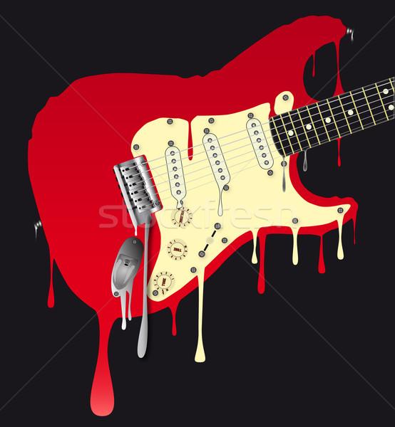 エレキギター 伝統的な 岩 ギター ダウン ストックフォト © Bigalbaloo