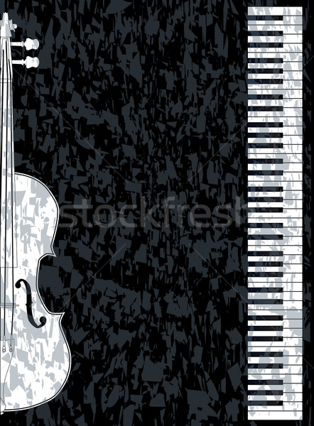 Piano and Violon Stock photo © Bigalbaloo