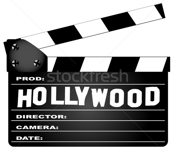 Hollywood Clapperboard Stock photo © Bigalbaloo