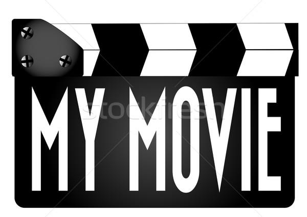 My Movie Clapperboard Stock photo © Bigalbaloo