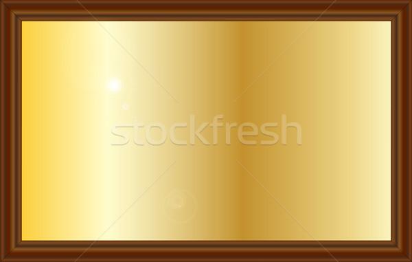 Díj fogkő sárgaréz felirat fából készült rajz Stock fotó © Bigalbaloo