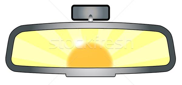 Rear View Mirror Glare Stock photo © Bigalbaloo