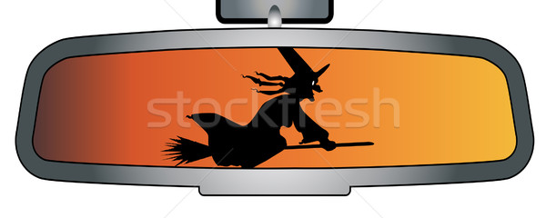 Halloween Rear View Mirror Stock photo © Bigalbaloo