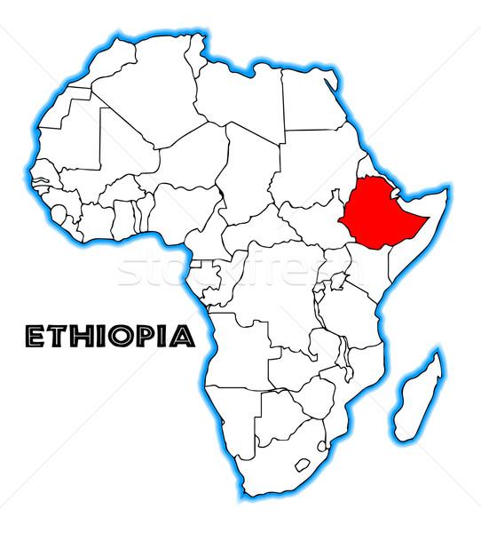 Etiopia Pokaż Afryki biały czarny Zdjęcia stock © Bigalbaloo