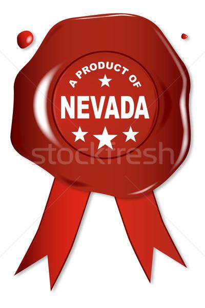 ürün Nevada balmumu mühürlemek metin kırmızı Stok fotoğraf © Bigalbaloo