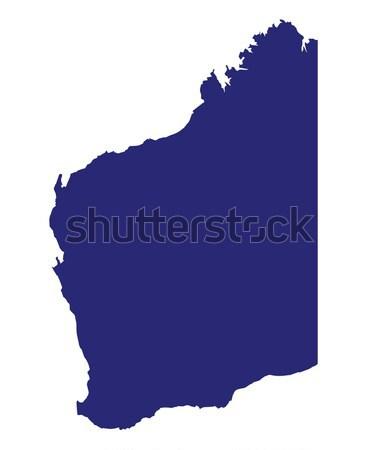 западной Австралия силуэта карта белый рисунок Сток-фото © Bigalbaloo