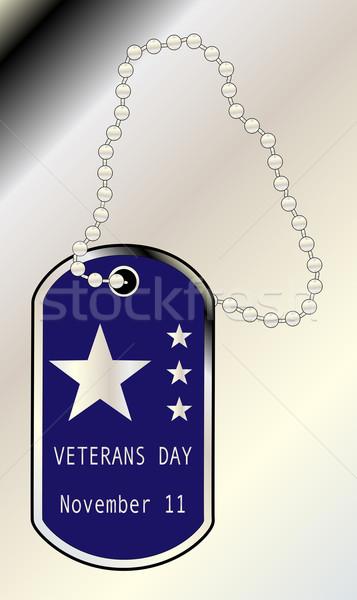 Veterans Day Dog Tag Stock photo © Bigalbaloo
