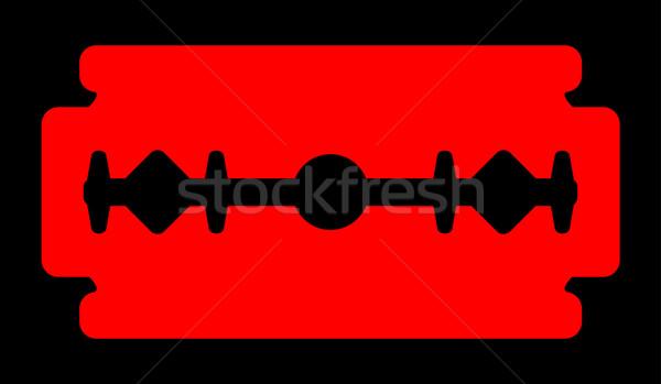 красный бритва лезвия силуэта типичный черный Сток-фото © Bigalbaloo