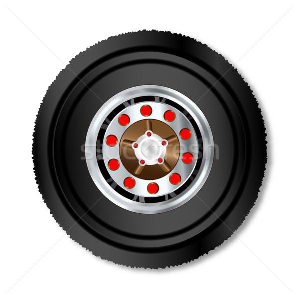 Truck Wheel Stock photo © Bigalbaloo