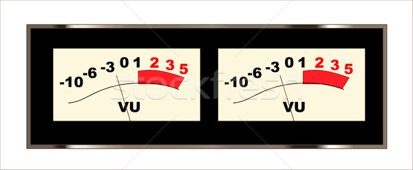 Stereo VU Meters Stock photo © Bigalbaloo