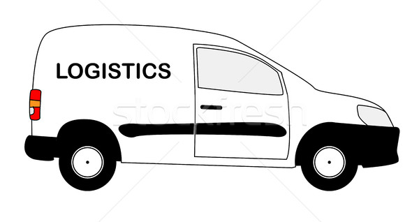 Small Courier Logistics Delivery Van Stock photo © Bigalbaloo